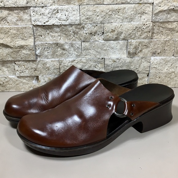 Timberland Shoes Leather Mules Clogs Brown